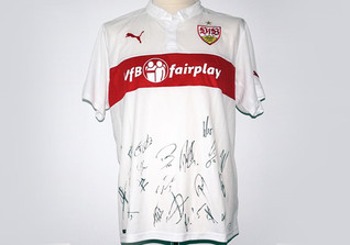 VfB Jersey team signed