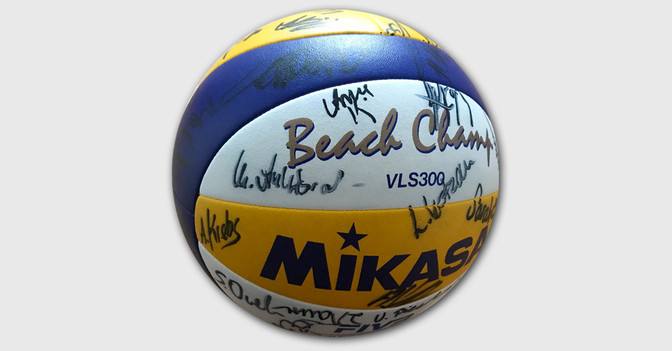 Volleyball signiert