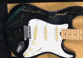 Von aha signierte Gitarre