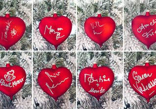 Weihnachtsherzen rot