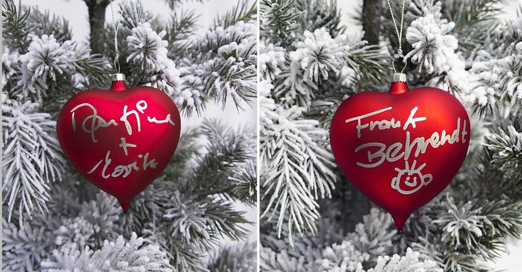 Weihnachtskugeln signiert