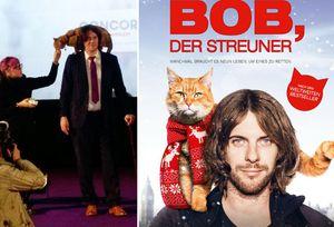 """Auf der Sondervorführung von """"Bob, der Streuner"""""""