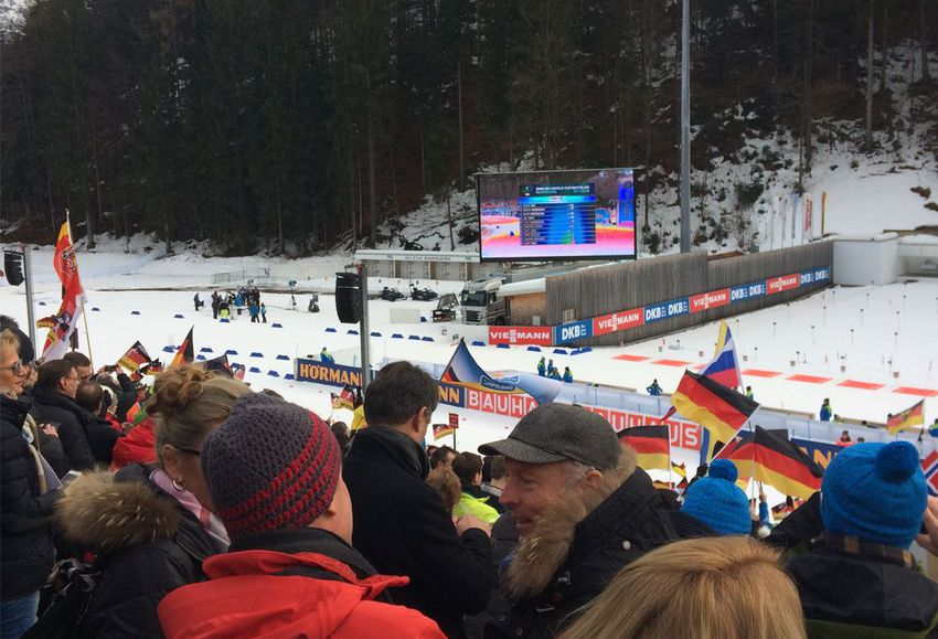 Beim Biathlon-Worldcup in Ruhpolding