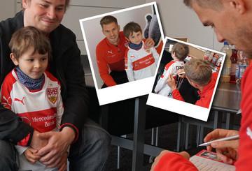 Fan-Traum wird wahr: VfB-Star Simon Terodde getroffen