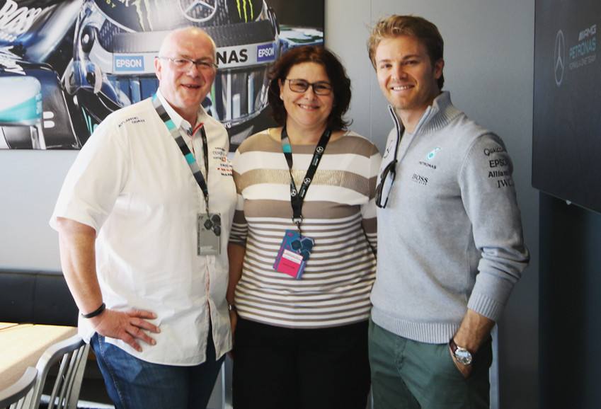 Formel 1-Weltmeister Nico Rosberg getroffen