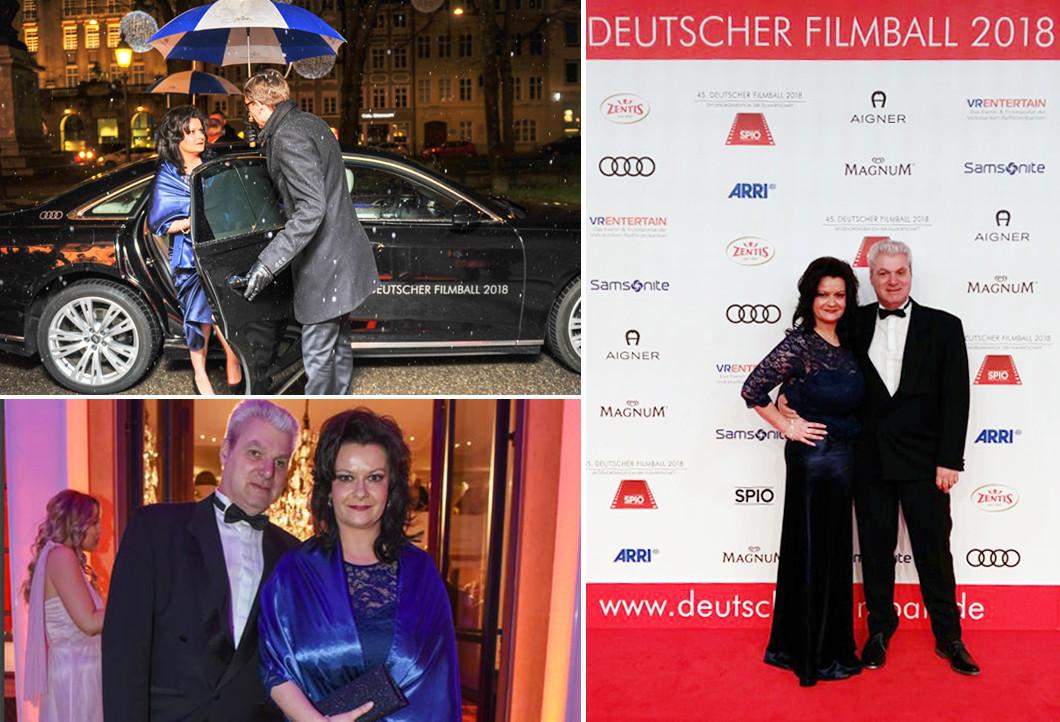 Sandra und ihr Mann beim Deutschen Filmball