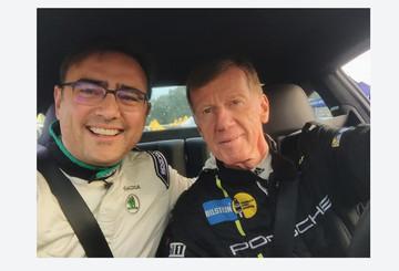 Heiße Fahrt mit Rallye-Legende Walter Röhrl