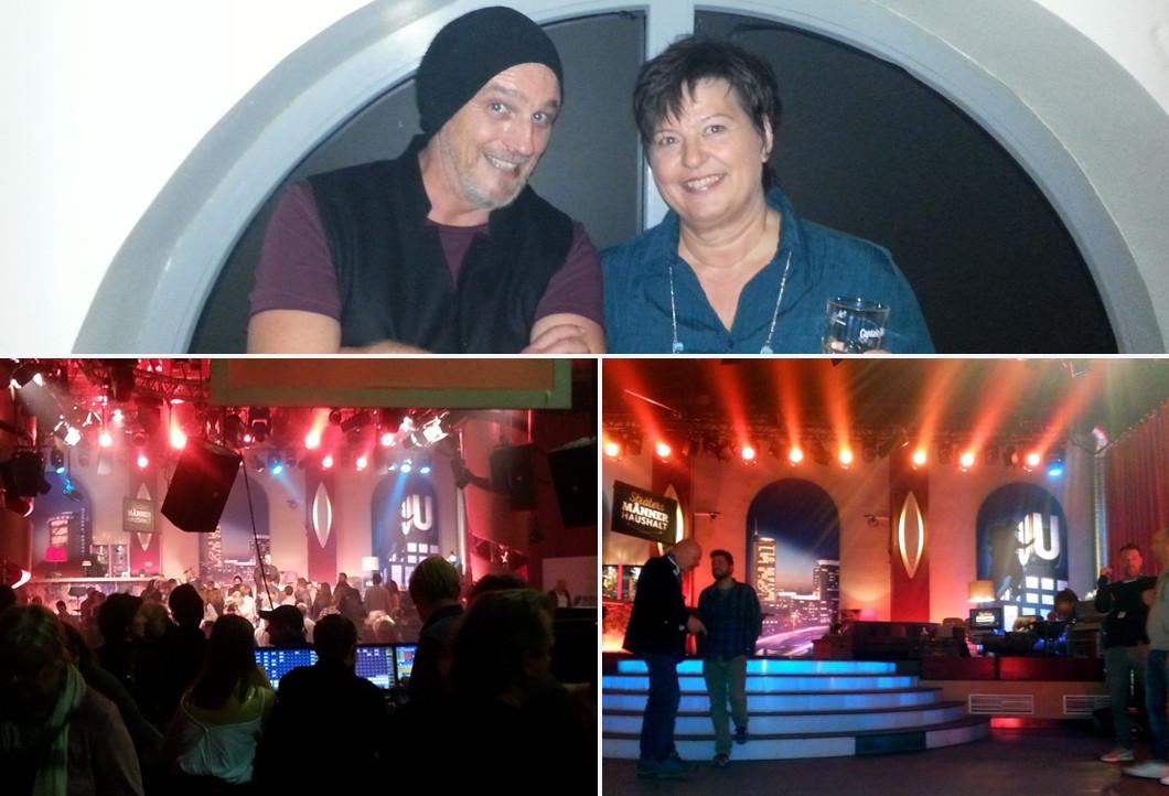 Martina mit Torsten Sträter bei der TV-Aufzeichnung