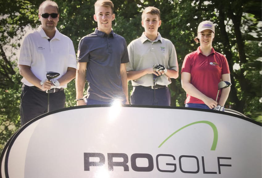 Mit den Profis auf einem ProAm Golfturnier gespielt