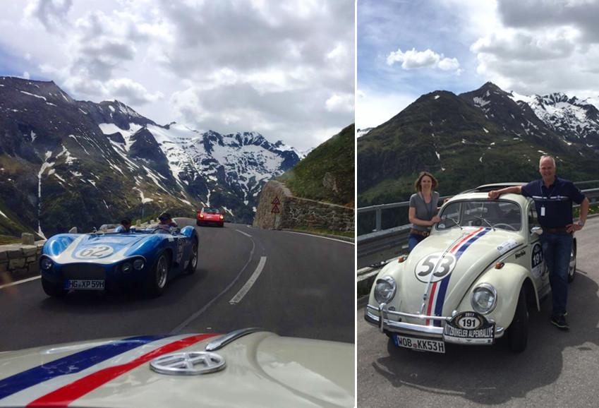 Ulrich mit Herbie bei der Alpenrallye
