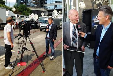 Sky-Reporter Lymberopoulos getroffen