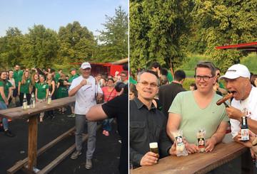 Überraschende Grillparty mit Axel Schulz bei bestem Wetter