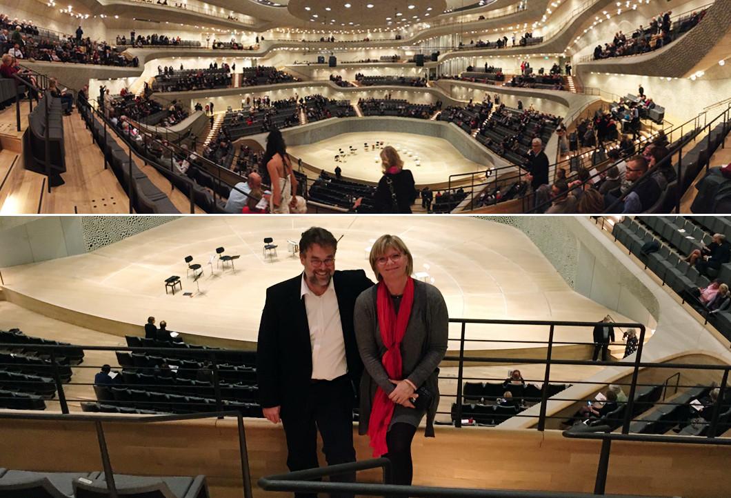 Arndt und seine Frau in der Elbphilharmonie