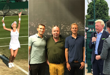 Ludger und die Sky-Moderatoren bei Wimbledon