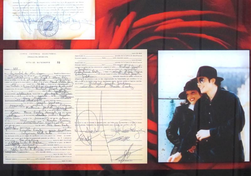 Einmalig: Heiratsurkunde von Lisa Marie Presley & Michael Jackson