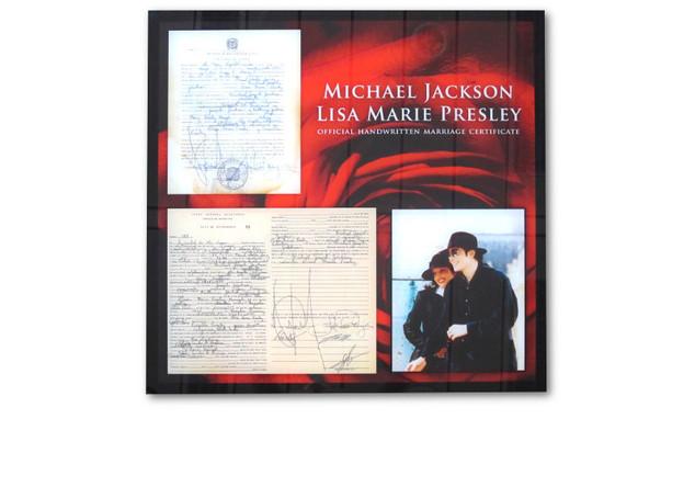Heiratsurkunde Jackson