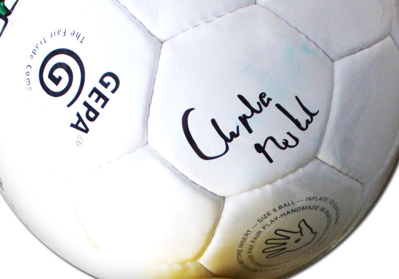 Fußball von Angela Merkel