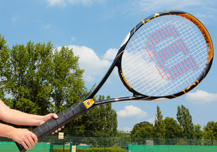 Riesen-Tennisschläger