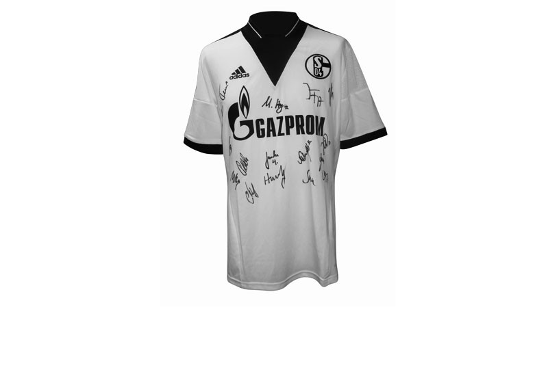 zum bundesligafinale handsigniertes trikot fc schalke 04. Black Bedroom Furniture Sets. Home Design Ideas