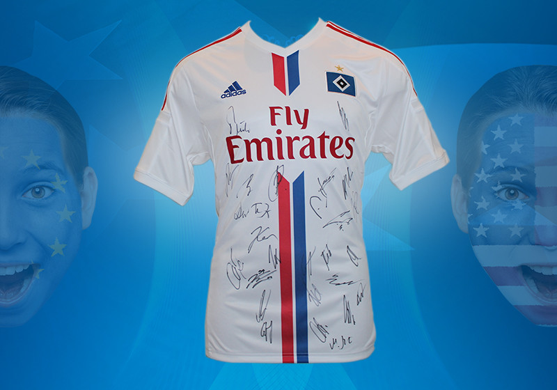fan highlight trikot des hamburger sv vom team signiert. Black Bedroom Furniture Sets. Home Design Ideas