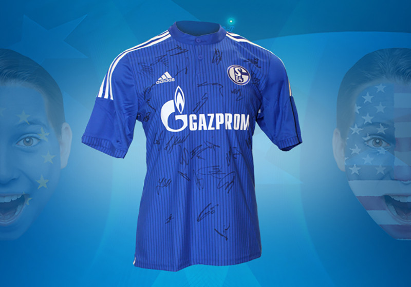 fan highlight trikot des fc schalke 04 vom team signiert. Black Bedroom Furniture Sets. Home Design Ideas