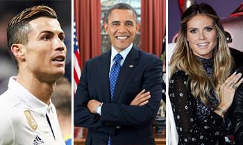 Barack Obama, Heidi Klum und Cristiano Ronaldo setzen sich für Kinder in Not ein