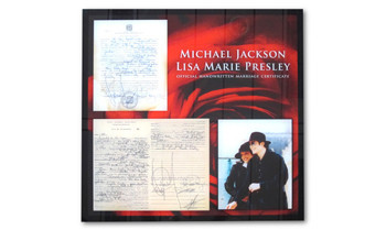 Michael Jacksons & Lisa Marie Presleys Heiratsurkunde