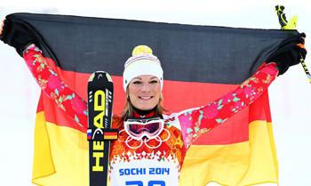 Maria Höfl-Rieschs Gold-Anzug aus Sochi