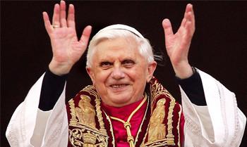 Reihe eins beim Papst