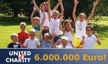 United Charity hat 6 Millionen Euro an Spenden weitergeleitet