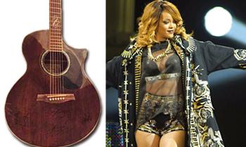 Rihanna sammelt mit Gitarre 3.600 Euro für deutsche Kinderhilfsorganisation
