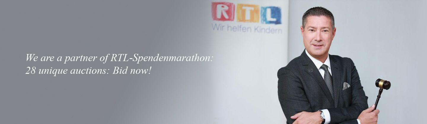 RTL-Spendenmarathon: Auction unique gifts!