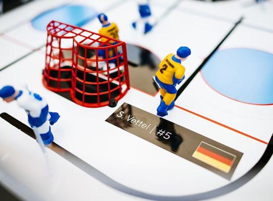 Signiertes Eishockeyspiel