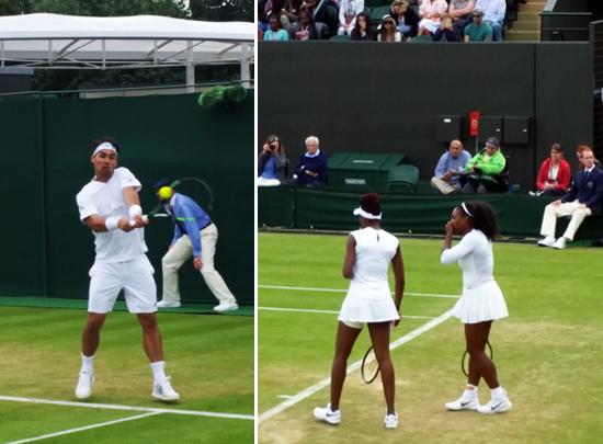 Der Italiener mit dem feinen Händchen und die US-Powerfrauen: Fabio Fognini und Venus & Serena Williams