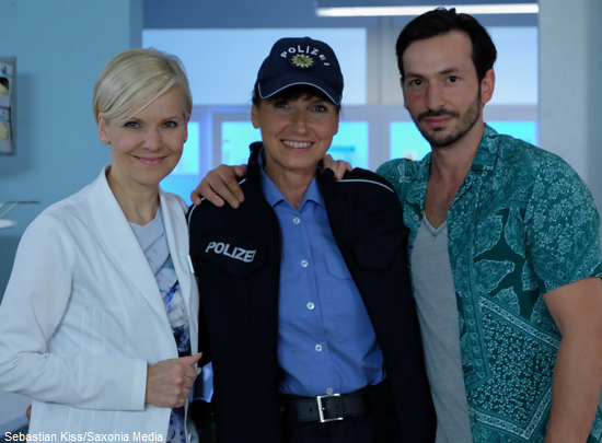 Gaby mit Andrea Kathrin Loewig und Arnel Taci