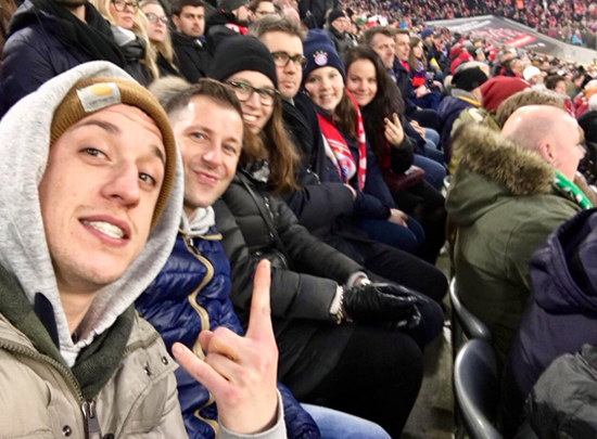 6 Freunde in der Allianz Arena