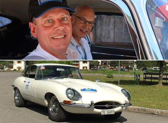 Benjamin und Andreas im Jaguar E