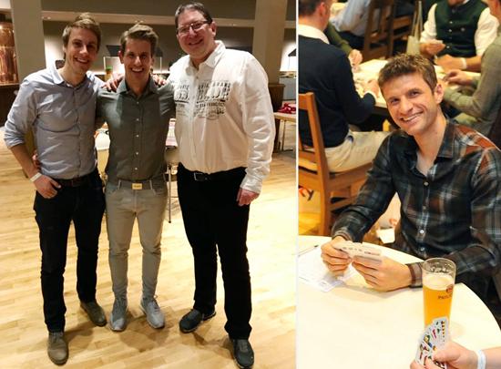 Beim Charity-Schafkopfturnier mit Thomas Müller und Michael Leopold