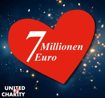 United Charity knackt die 7-Millionen-Marke