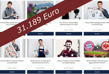 Thomas Müllers schöne Auktionen brachten über 31.000 Euro