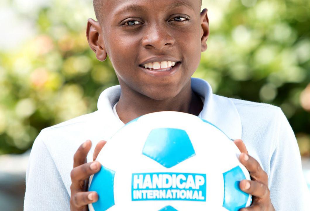 Moïse freut sich über die Unterstützung von Handicap International