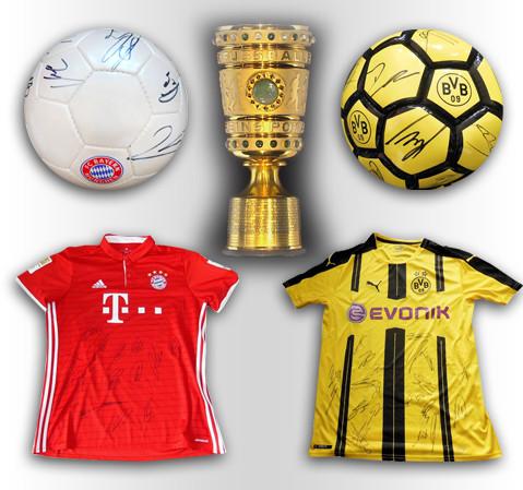 Nach BVB-Sieg über die Bayern: Teamsignierte Trikots und Bälle unter dem Hammer