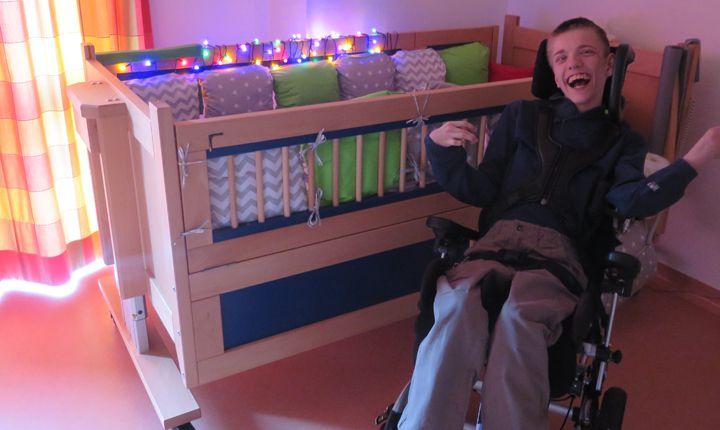 Therapiebetten für die Kinder im Zwerg Nase-Haus