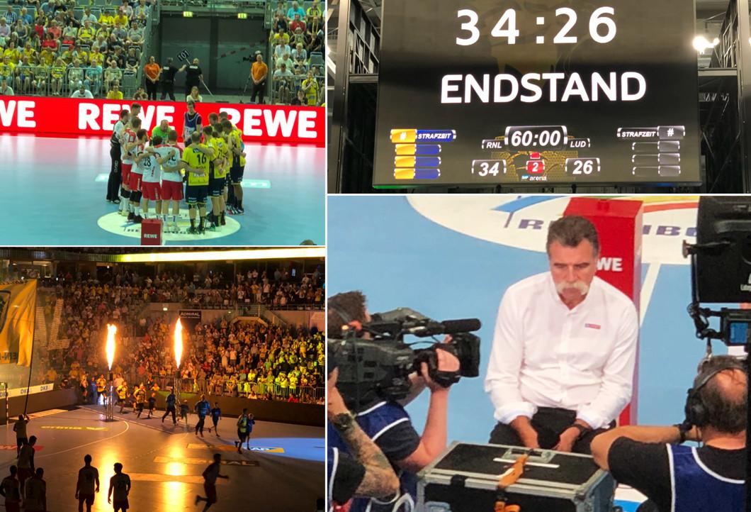 Beim Match Rhein Neckar Löwen vs. Eulen Ludwigshafen