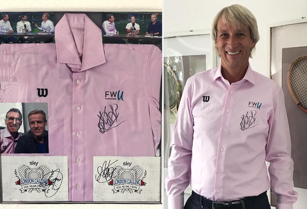 Angelique Kerbers signiertes Glücksbringer-Hemd erfüllt Fantraum