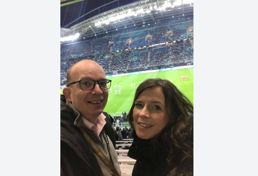 Thomas und Wenke beim Länderspiel