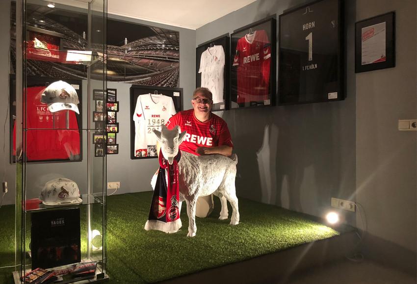 Marco in seiner tollen 1. FC Köln-Fanecke