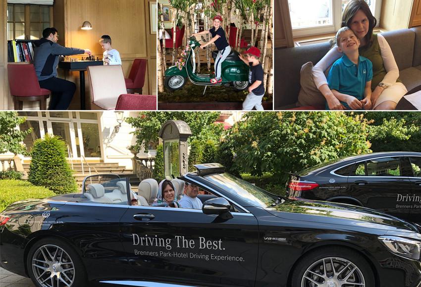 Adina und ihre Familie im Brenners Park-Hotel & Spa