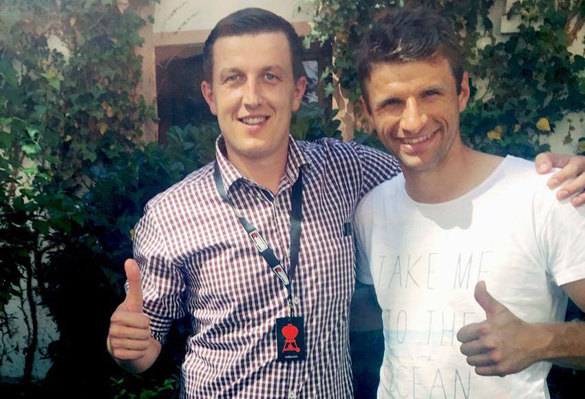 Michal mit Thomas Müller