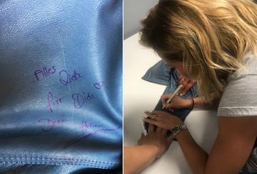 Helene Fischer signierte für unsere Auktionsgewinnerin ihre Jacke